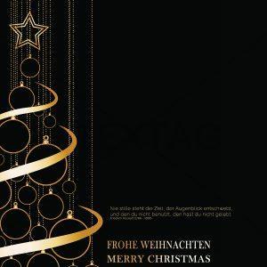 extravagante Weihnachts E-Card in Schwarz, geschäftlich, ohne Werbung (409)
