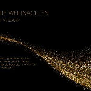 edle Weihnachts E-Card in Schwarz und Gold, geschäftlich, ohne Werbung (413)