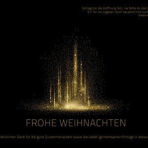 elegante Weihnachts E-Card in Schwarz und Gold, geschäftlich, ohne Werbung (414)