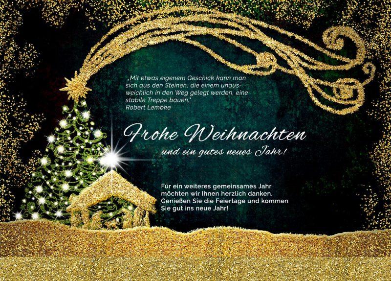 abstrakte Weihnachts E-Card, geschäftlich, ohne Werbung (415)