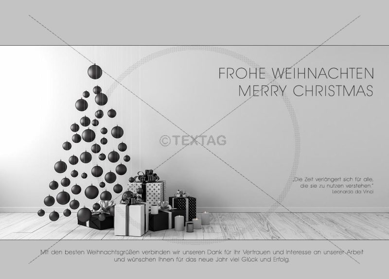 elegante Weihnachts E-Card in Grau und Weiß, geschäftlich, ohne Werbung (416)