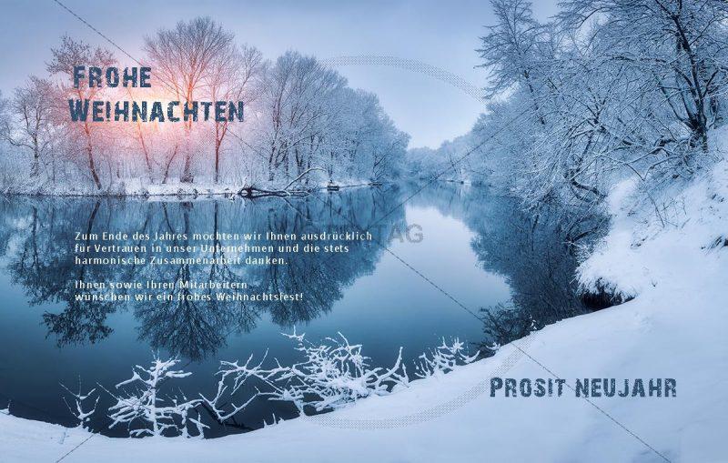 romantische Weihnachts E-Card mit Spruch in blau (00419)