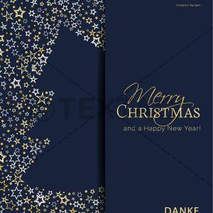 geschäftliche Weihnachts E-Card mit Spruch in blau und gold (00420)