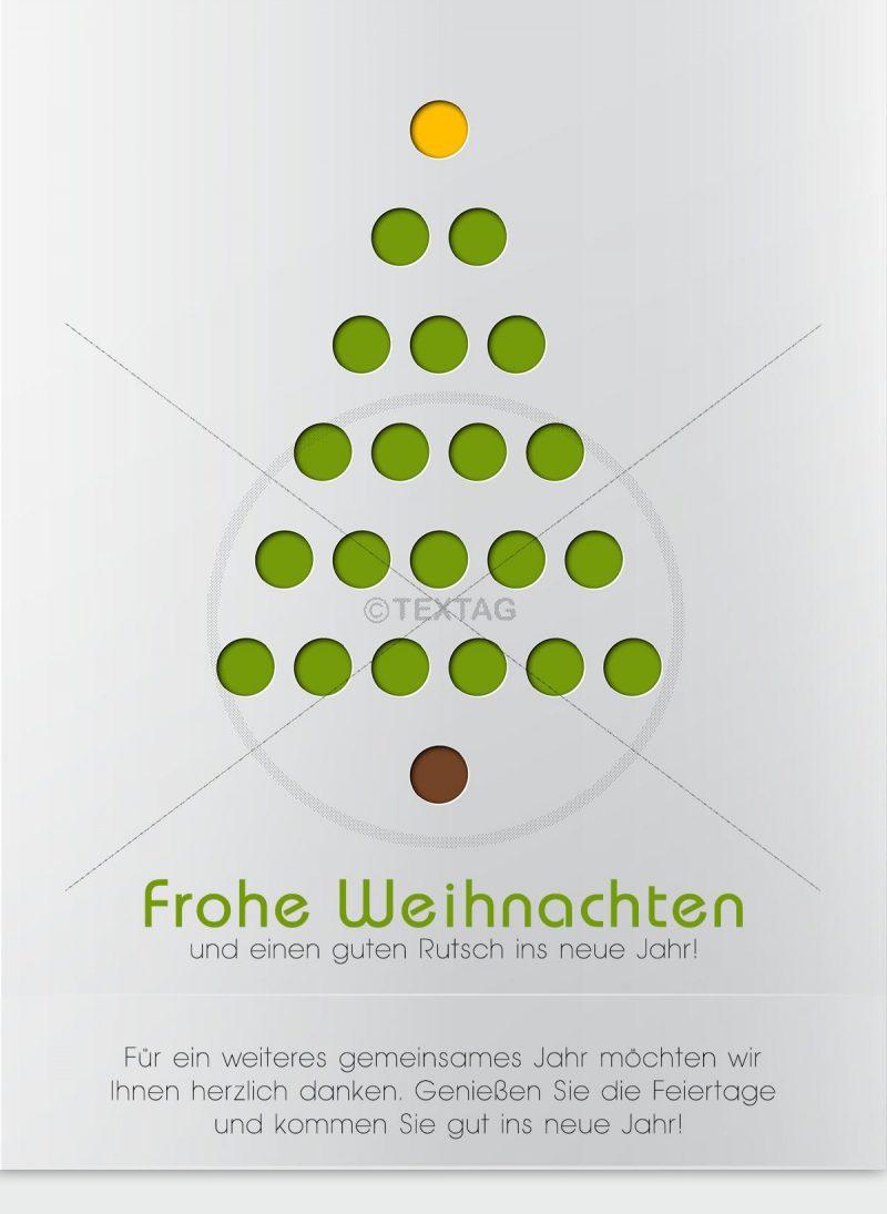 geschäftliche Weihnachts E-Card mit Spruch mit Weihnachtsbaum (00423)