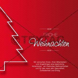 exklusive Weihnachts E-Card in rot, ohne Werbung (00426)