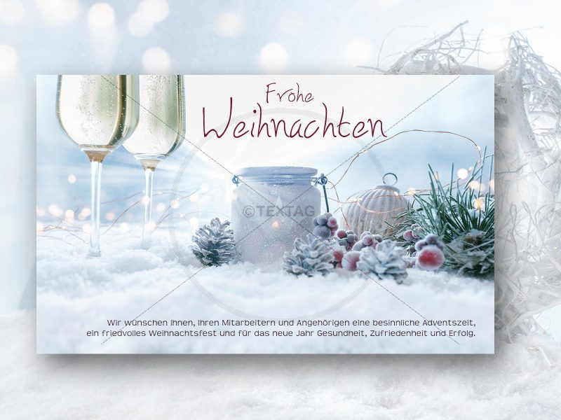 geschäftliche, elegante Weihnachts E-Card, ohne Werbung (00428)