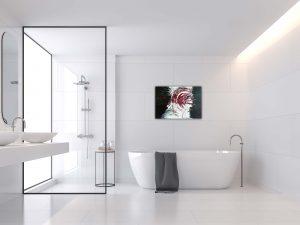 """Abstraktes Gemälde """"RED TORNADO"""" - Unikat (117)"""