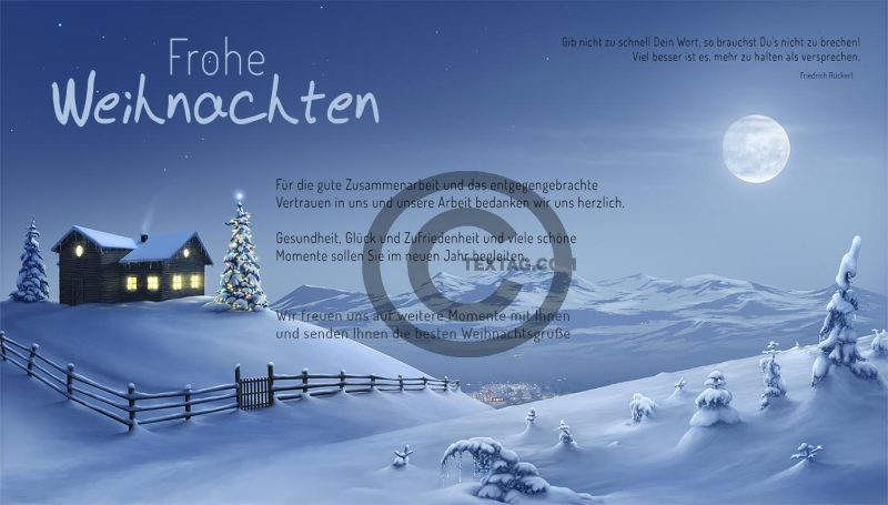romantische, geschäftliche Weihnachts eCard mit Spruch, ohne Werbung (440)