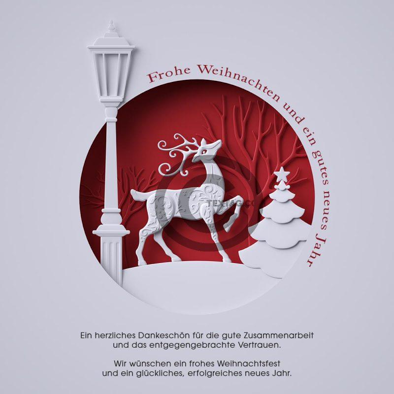 außergewöhnliche, geschäftliche Weihnachts eCard mit Spruch, ohne Werbung (442)