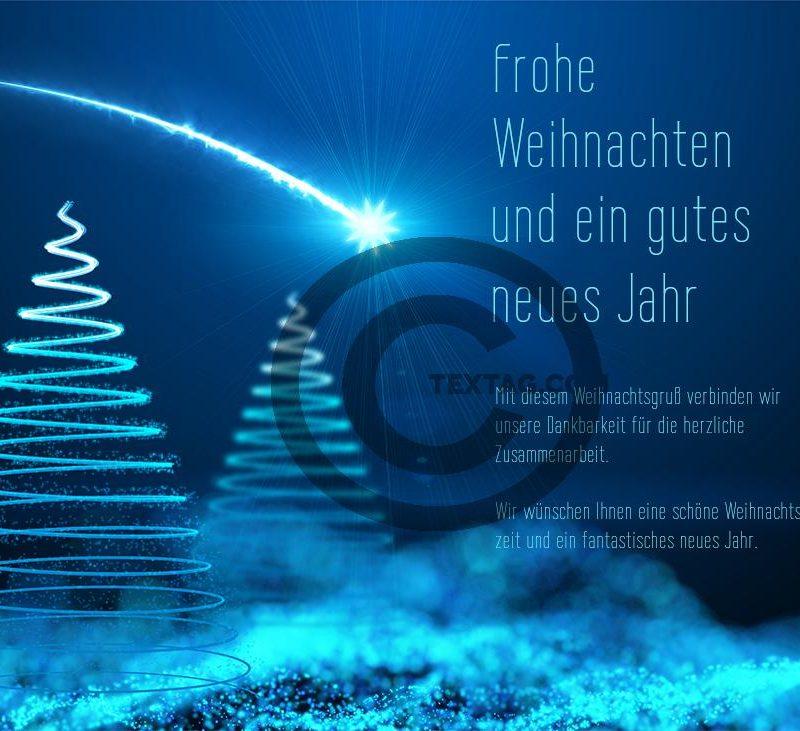 edle, geschäftliche Weihnachts eCard mit Spruch, ohne Werbung (443)