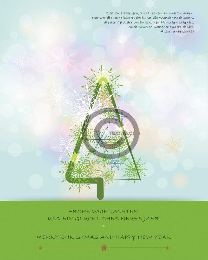 stylische, geschäftliche Weihnachts eCard mit Spruch, ohne Werbung (444)