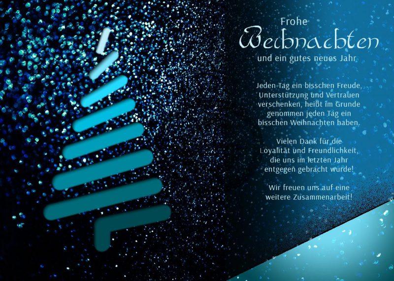 edle Weihnachts eCard mit Spruch, ohne Werbung (446)