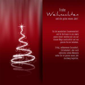 elegante, geschäftliche Weihnachts eCard mit Spruch, ohne Werbung (447)