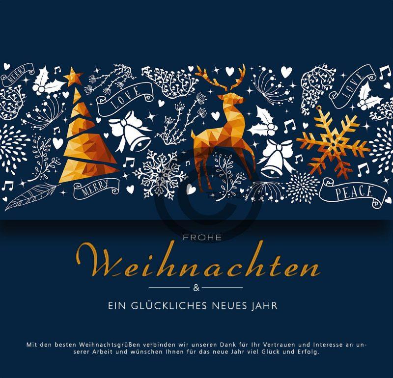 abstrakte Weihnachts eCard mit Spruch, geschäftlich, ohne Werbung (449)