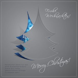 elegante Weihnachts eCard mit Spruch, geschäftlich, ohne Werbung (450)