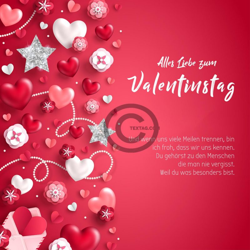 pinke Valentinstag E-Cards für umweltbewusste Freunde (00464)
