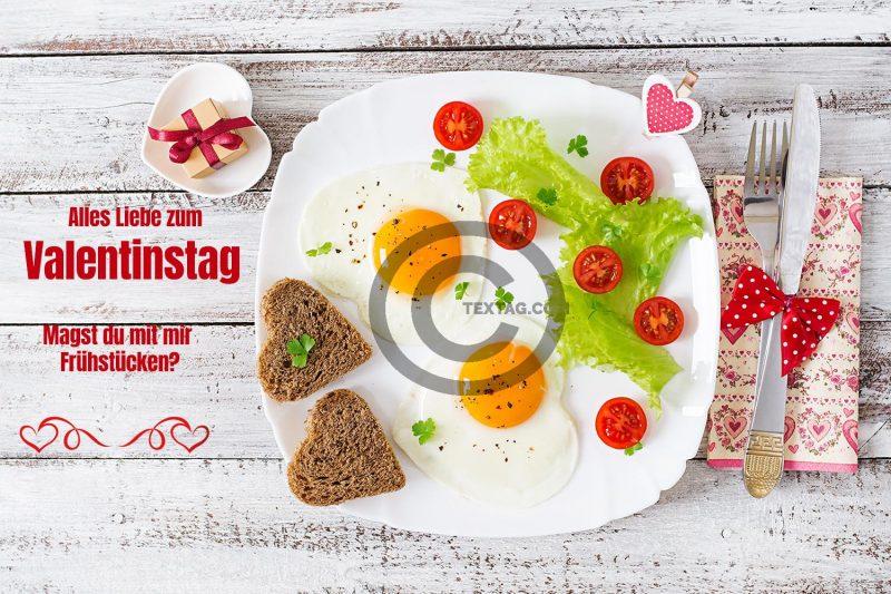 Magst du mit mir Frühstücken? Valentinstag E-Cards für Freunde (00470)