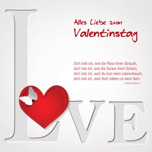 """Valentinstag E-Cards """"LOVE"""" für Schwerverliebte (00472)"""