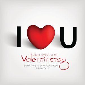 "Valentinstag E-Cards ""I LOVE YOU"" für Schwerverliebte (00473)"