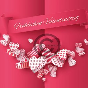 edle Valentinstag E-Card in Pink (00479)