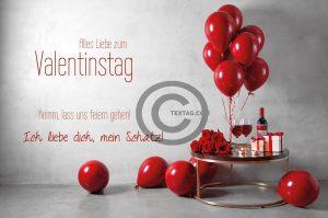 Valentinstag E-Card - Komm, lass uns feiern gehen! (00483)