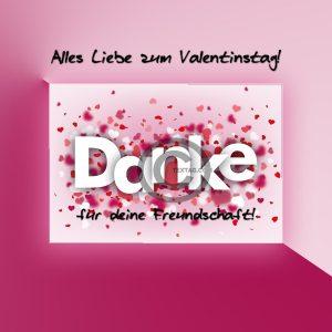 Valentinstag E-Card für Freunde (00486)